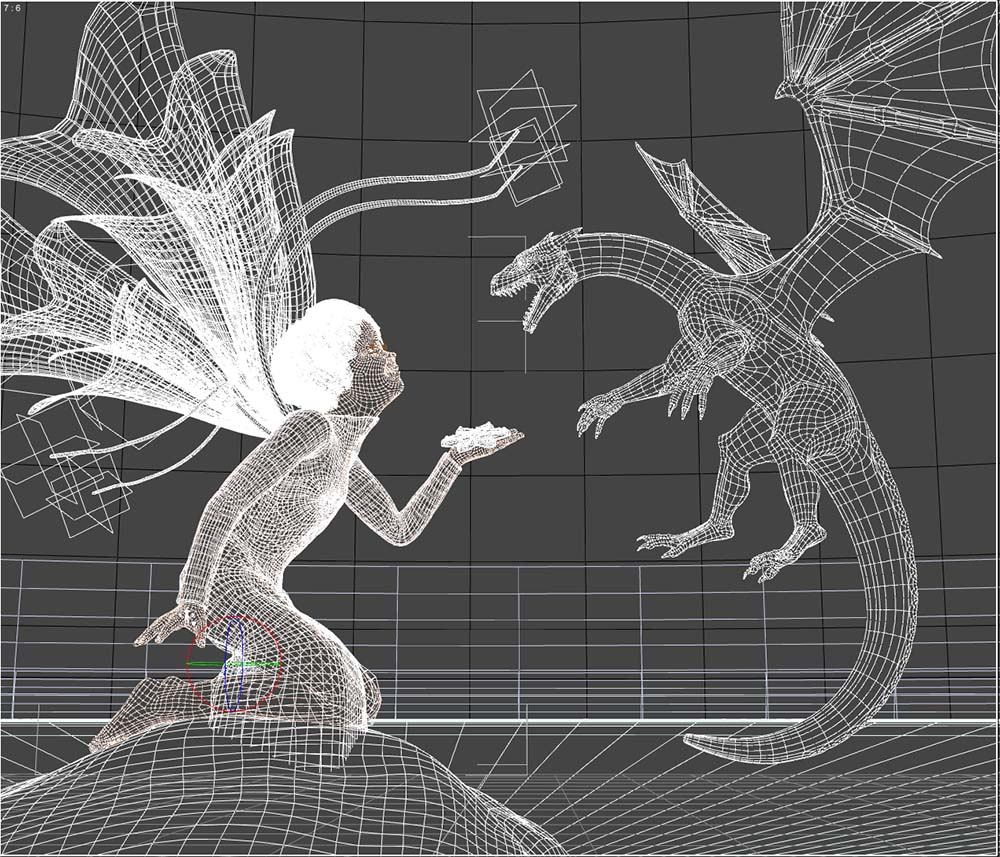 GirlDragon10Wireframe